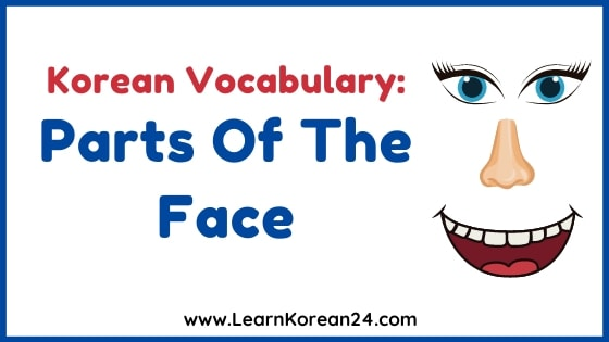 Parts Of The Face In Korean