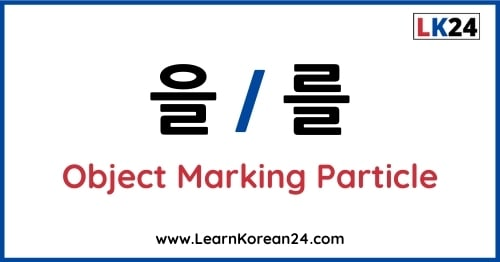 Korean Object Marking Particle