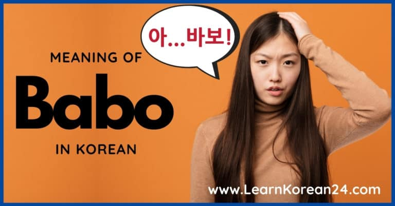 What Does Babo Mean in Korean?