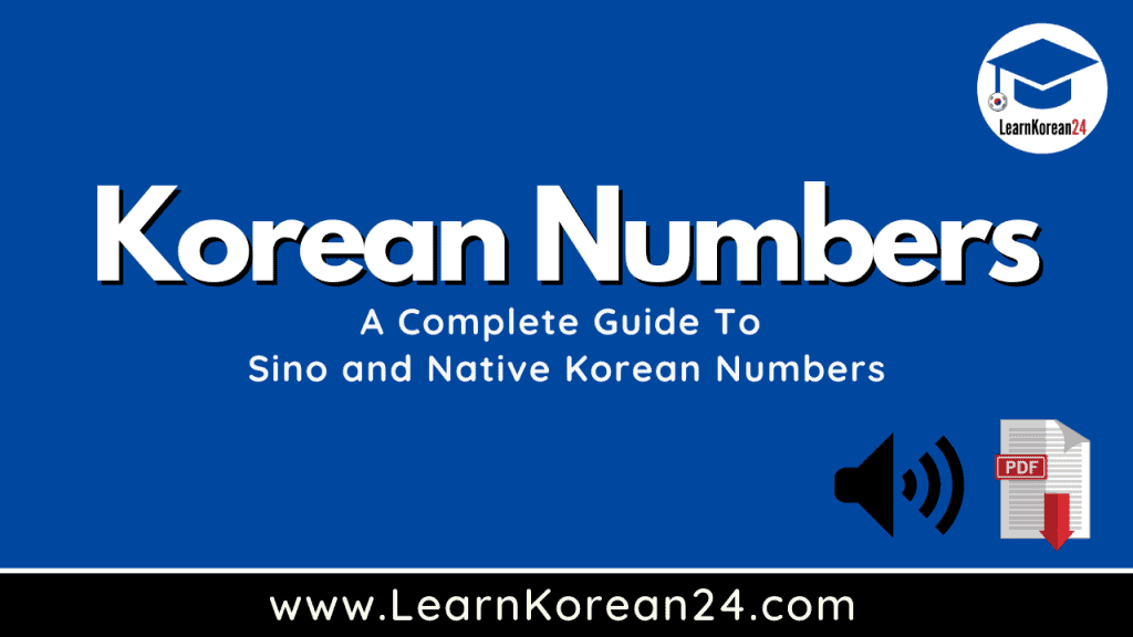 Sino And Native Korean Numbers